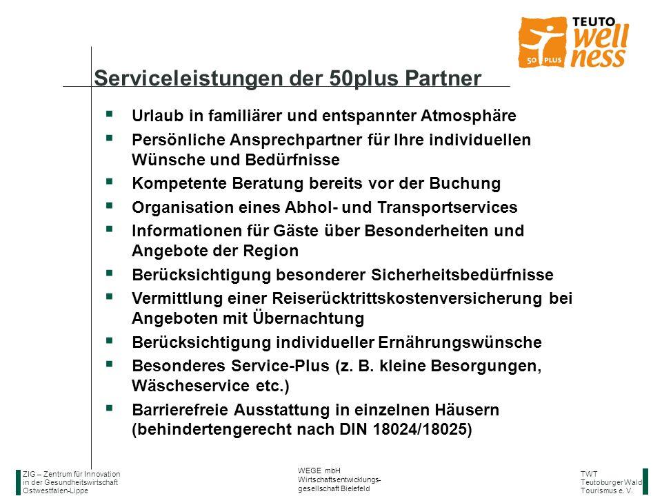 Serviceleistungen der 50plus Partner