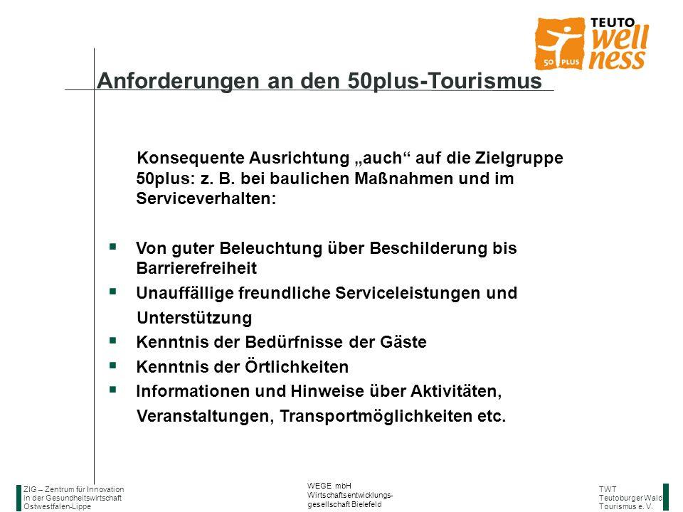 Anforderungen an den 50plus-Tourismus