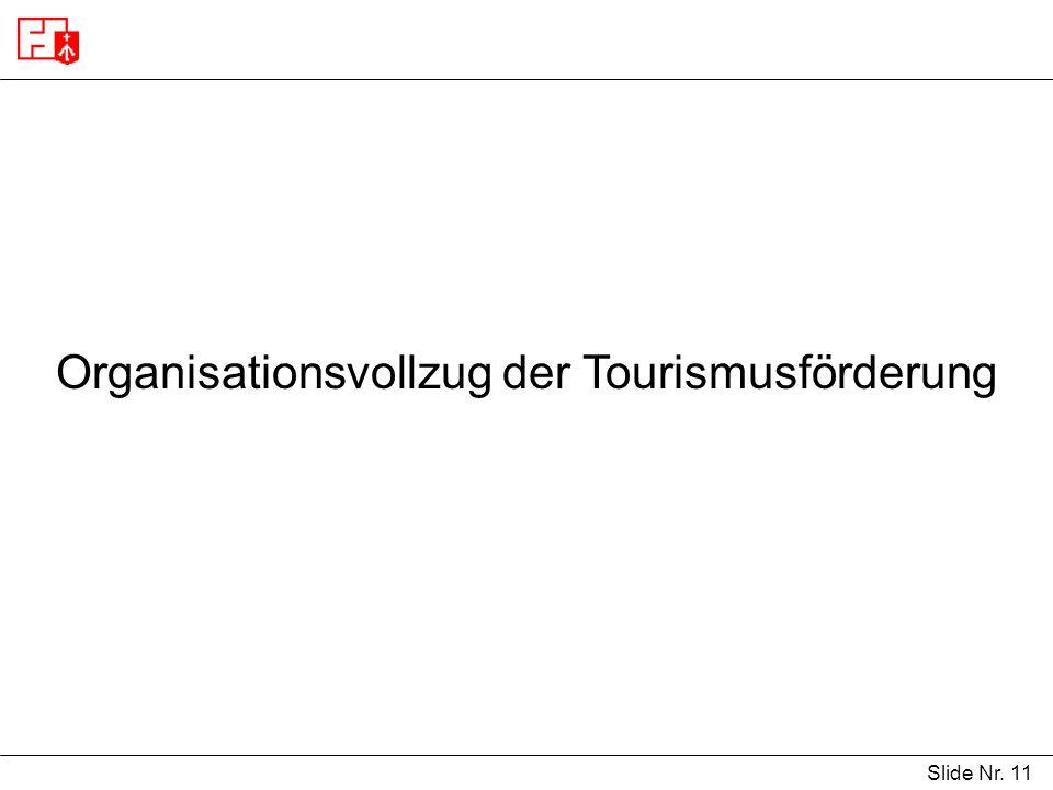 Organisationsvollzug der Tourismusförderung