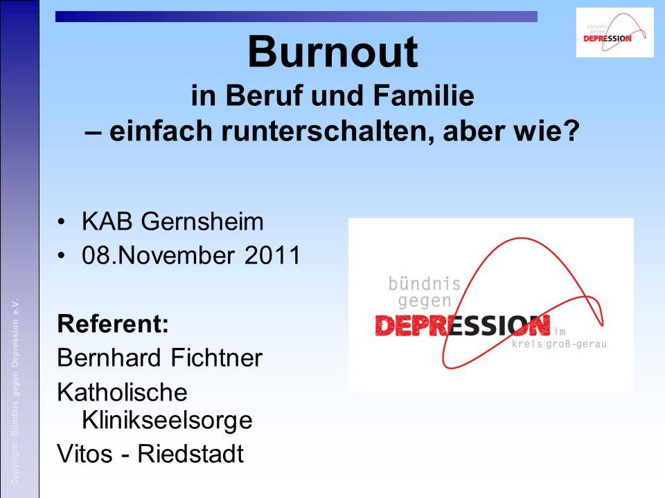 Burnout in Beruf und Familie – einfach runterschalten, aber wie