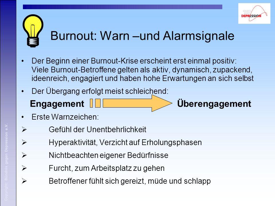 Burnout: Warn –und Alarmsignale