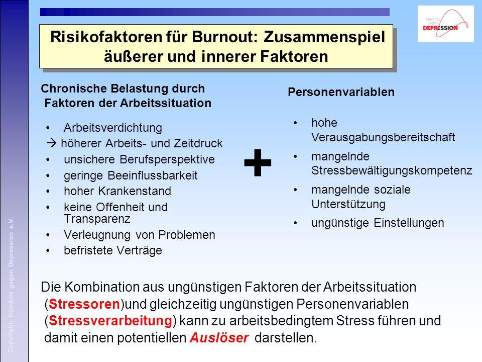 Risikofaktoren für Burnout: Zusammenspiel äußerer und innerer Faktoren