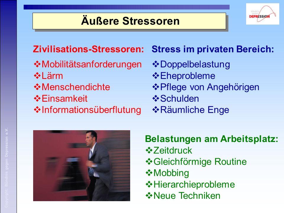 Äußere Stressoren Zivilisations-Stressoren: Mobilitätsanforderungen