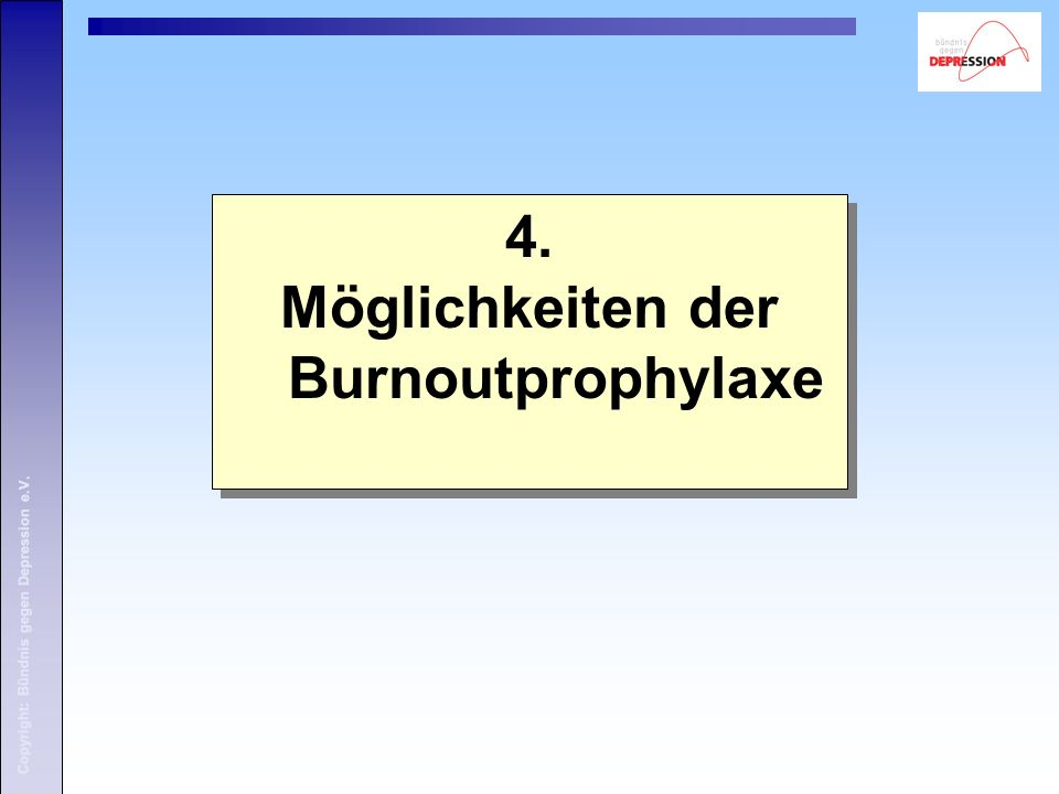 Möglichkeiten der Burnoutprophylaxe