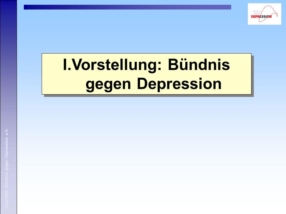 I.Vorstellung: Bündnis gegen Depression