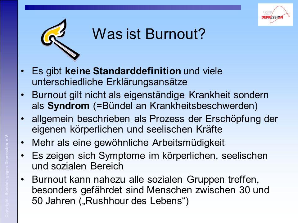Was ist Burnout Es gibt keine Standarddefinition und viele unterschiedliche Erklärungsansätze.