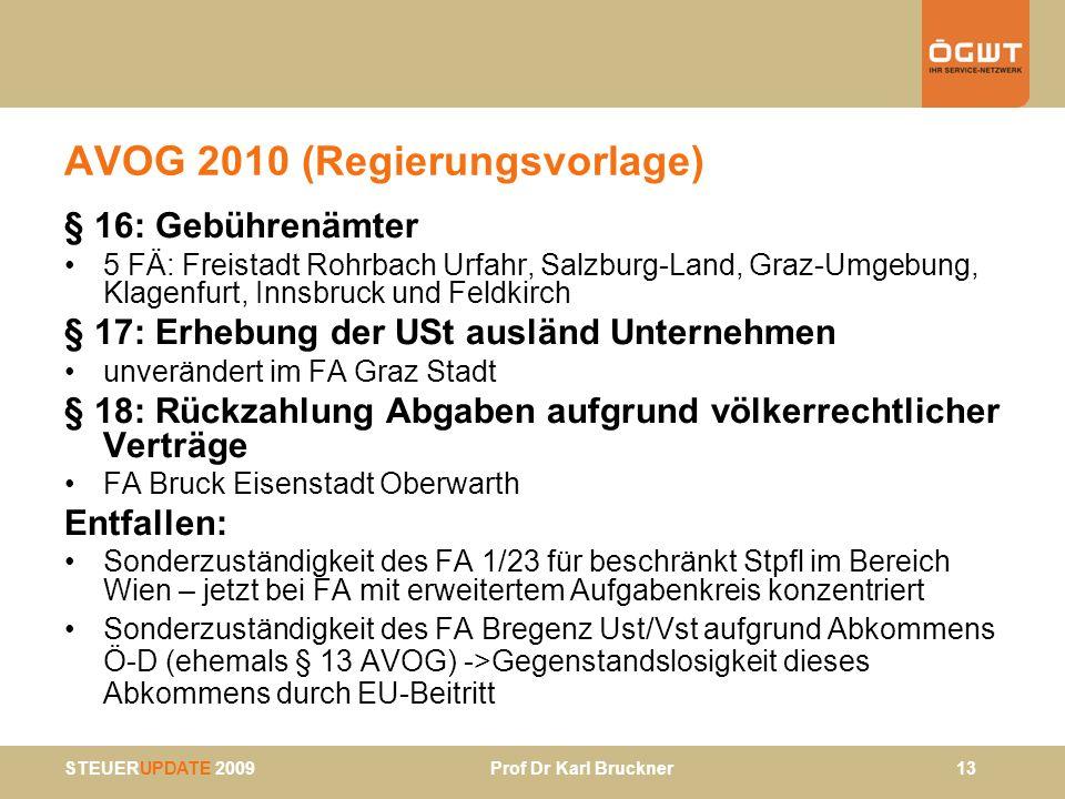AVOG 2010 (Regierungsvorlage)