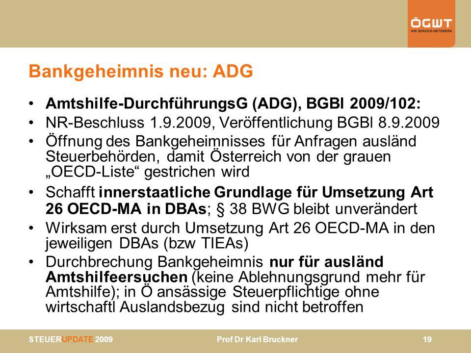 Bankgeheimnis neu: ADG