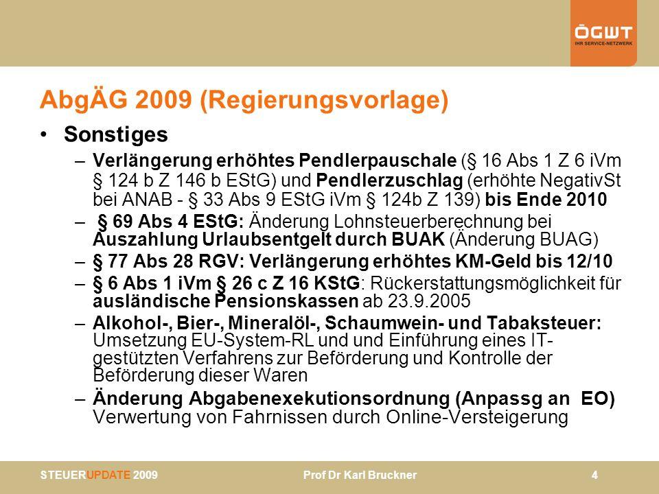 AbgÄG 2009 (Regierungsvorlage)