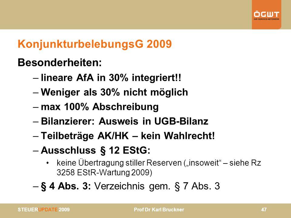 KonjunkturbelebungsG 2009