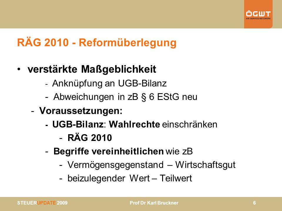 RÄG 2010 - Reformüberlegung