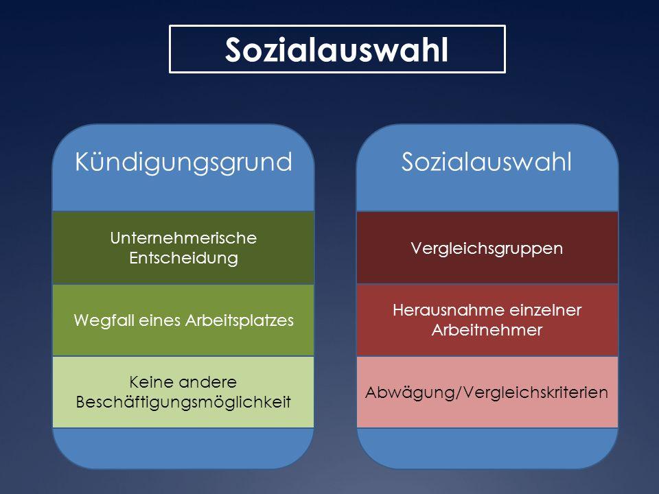 Sozialauswahl Kündigungsgrund Sozialauswahl