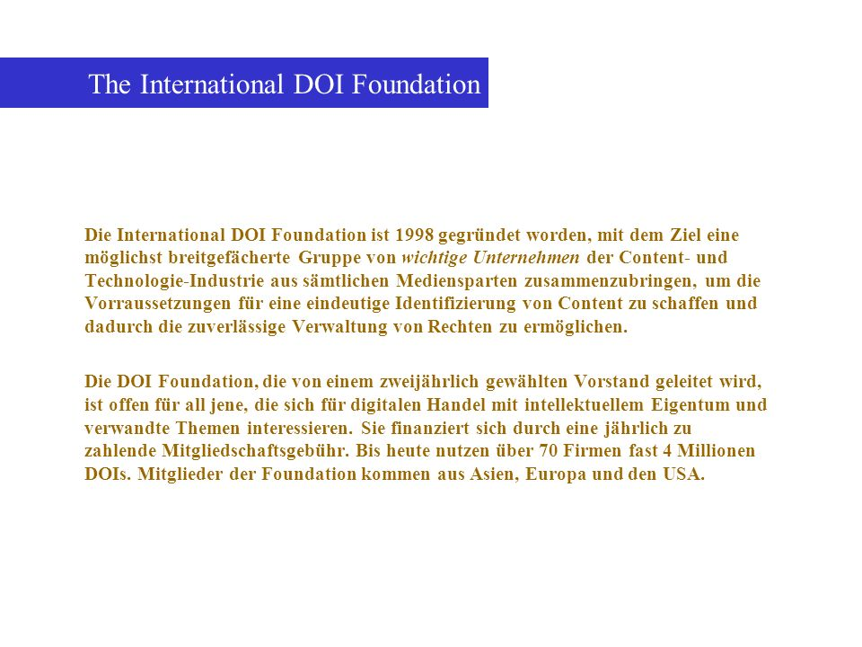 The International DOI Foundation