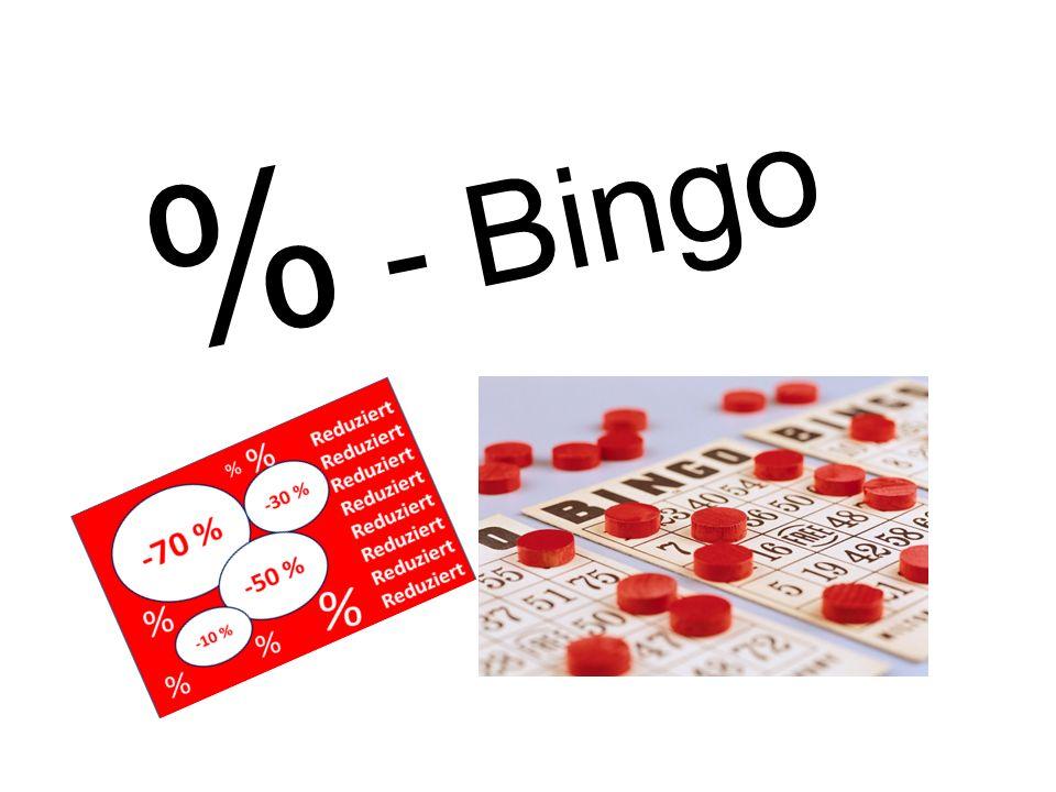 % - Bingo
