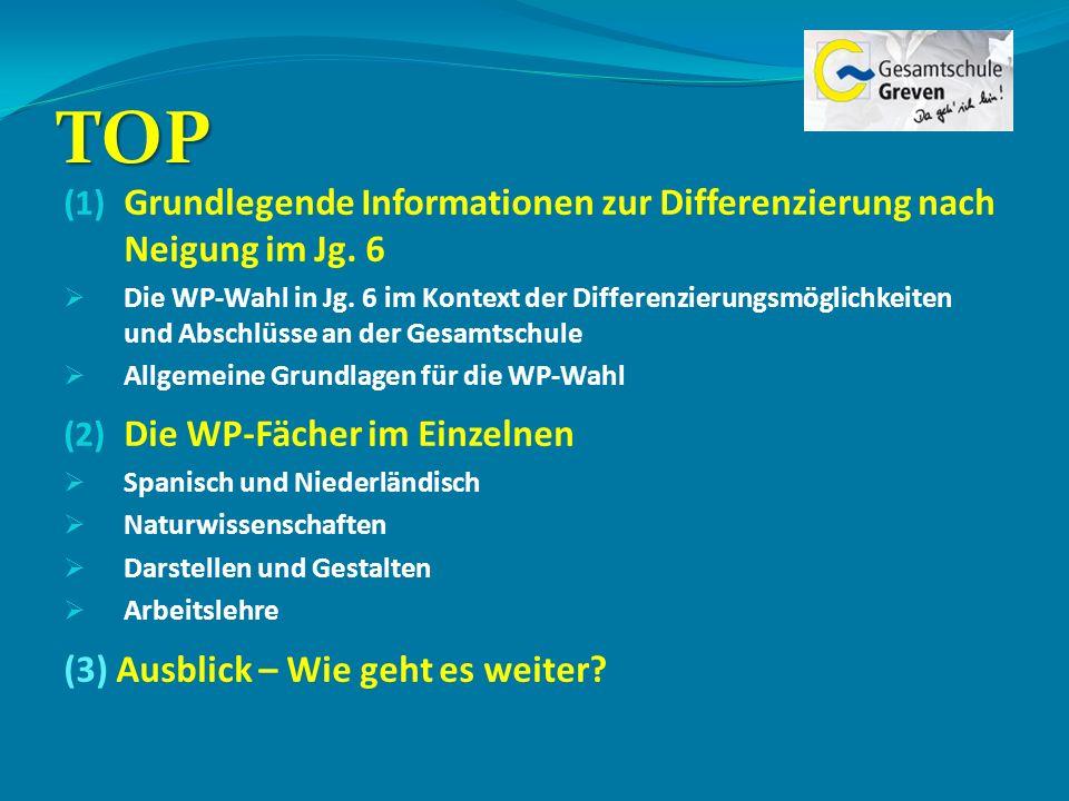 TOPGrundlegende Informationen zur Differenzierung nach Neigung im Jg. 6.