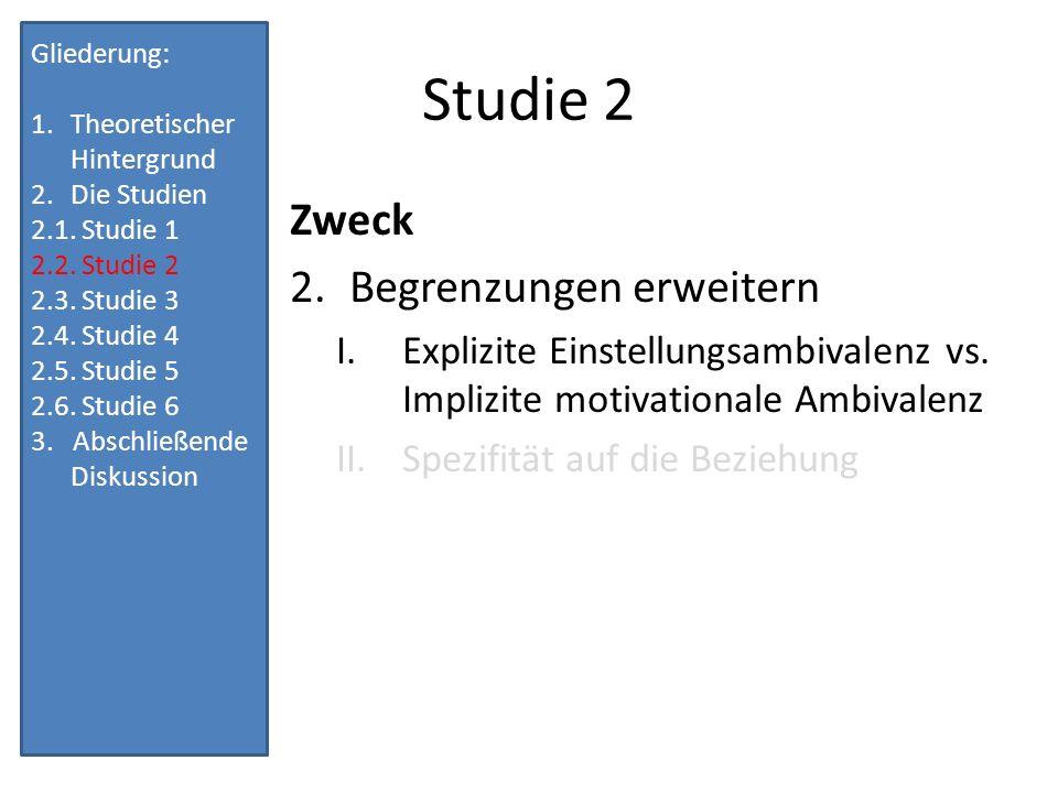 Studie 2 Zweck Begrenzungen erweitern