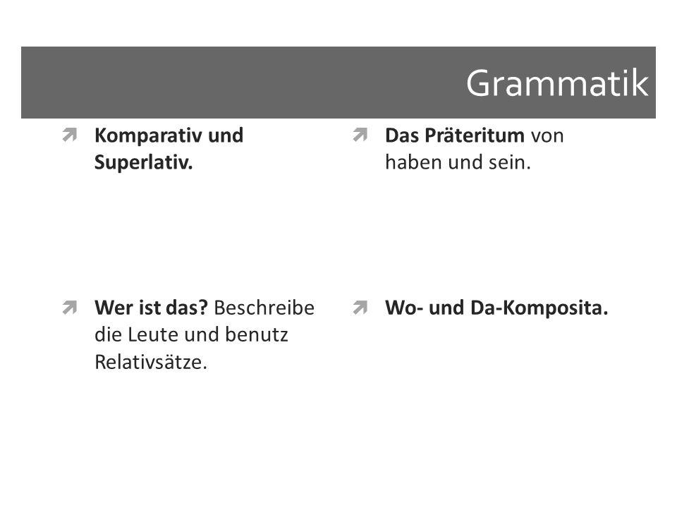 Grammatik Komparativ und Superlativ.
