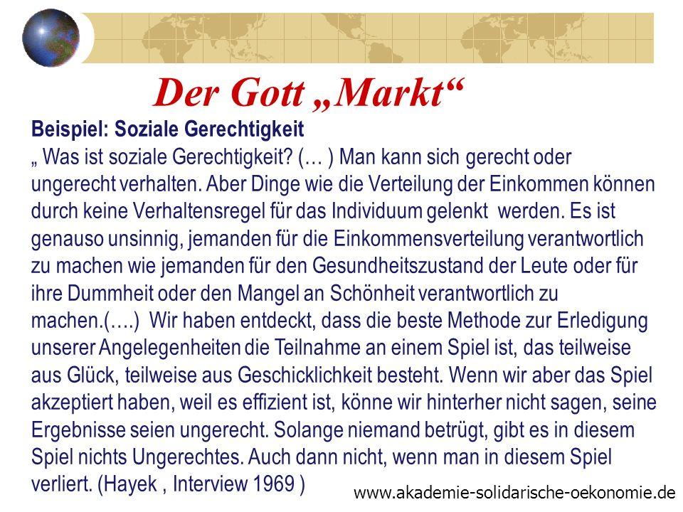 """Der Gott """"Markt"""