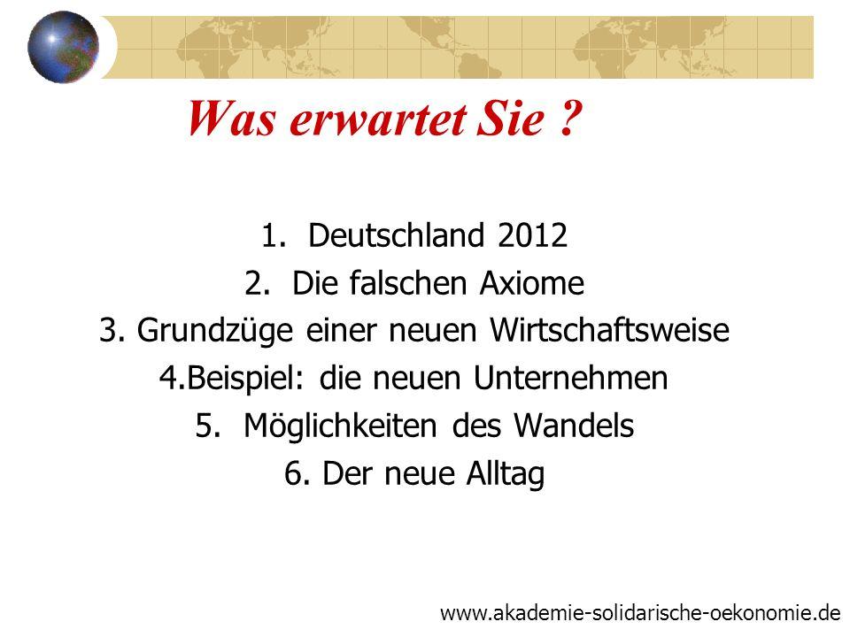 Was erwartet Sie Deutschland 2012 Die falschen Axiome