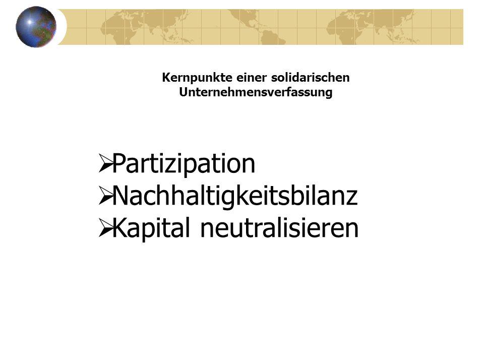 Kernpunkte einer solidarischen Unternehmensverfassung