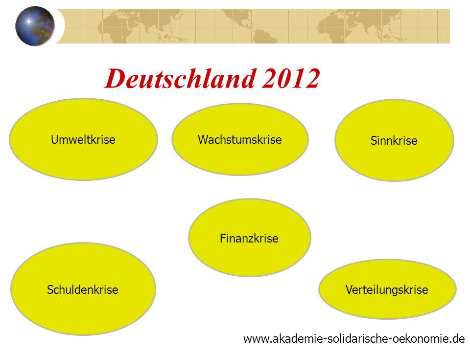 Deutschland 2012 Umweltkrise Wachstumskrise Sinnkrise Finanzkrise