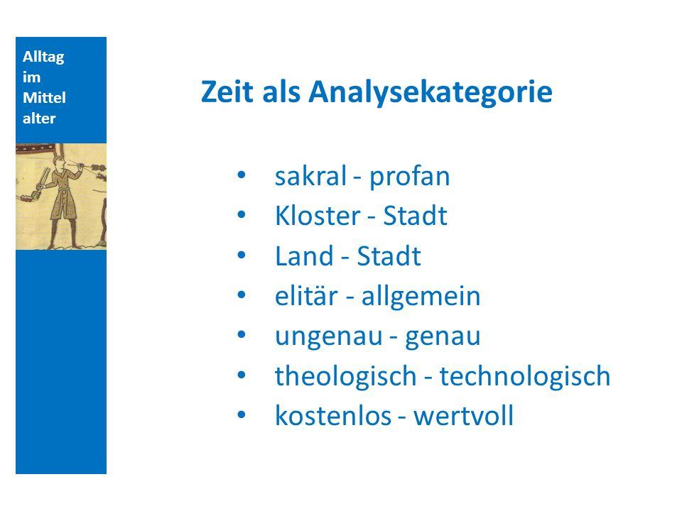 Zeit als Analysekategorie
