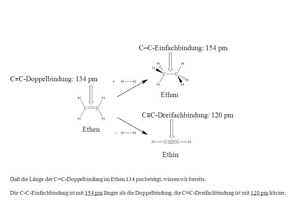 C–C-Einfachbindung: 154 pm