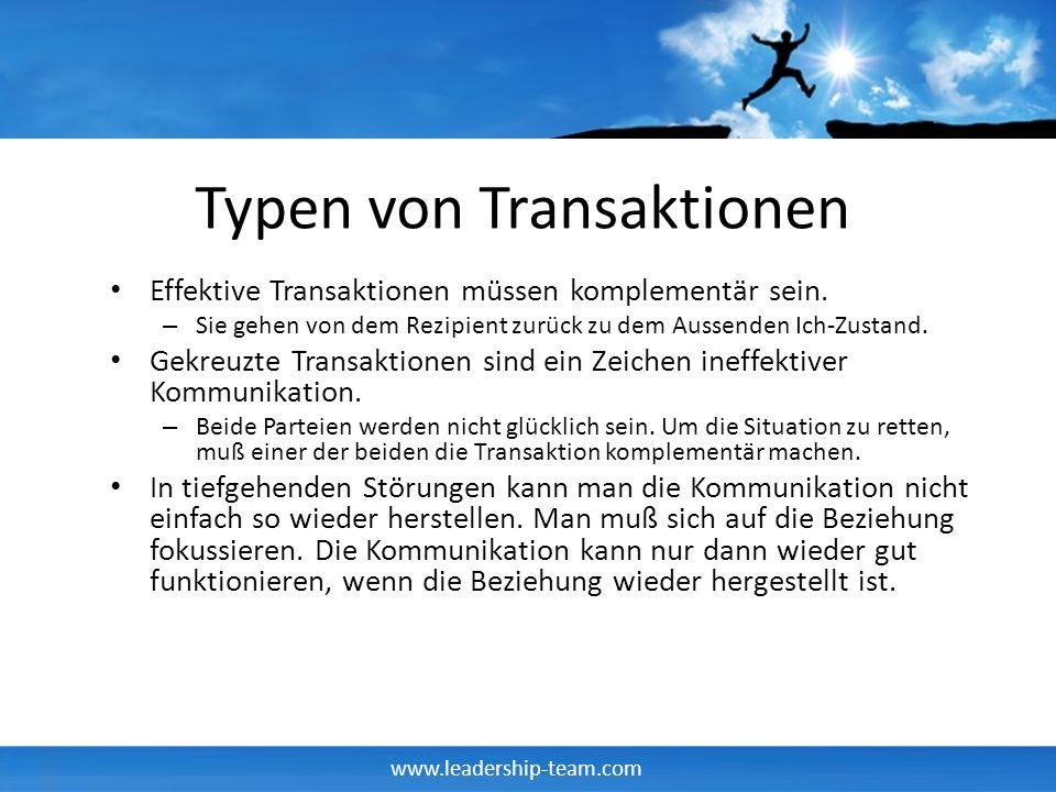 Typen von Transaktionen