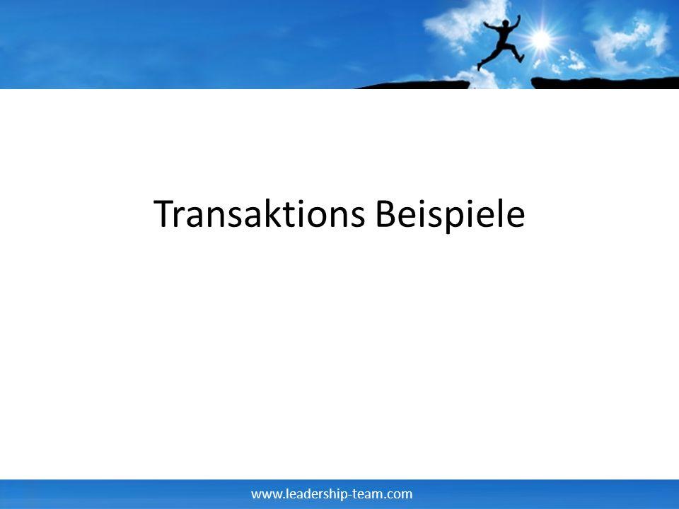 Transaktions Beispiele