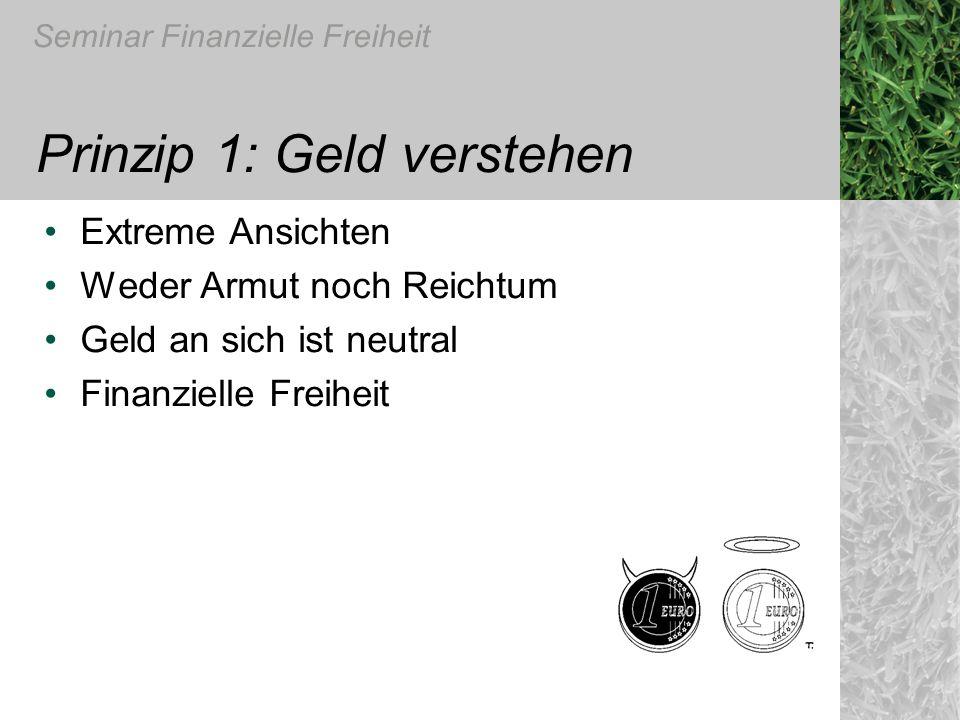 Prinzip 1: Geld verstehen