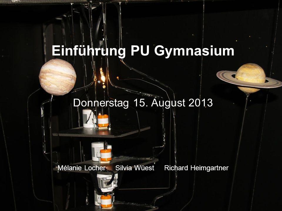 Einführung PU Gymnasium