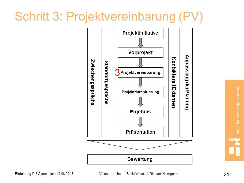 Schritt 3: Projektvereinbarung (PV)