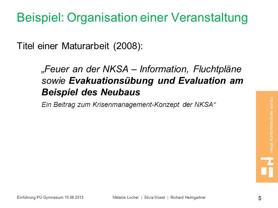 Beispiel: Organisation einer Veranstaltung