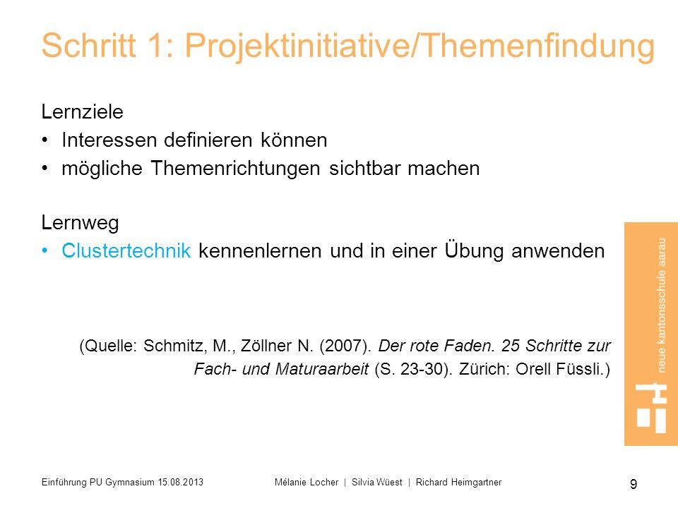 Schritt 1: Projektinitiative/Themenfindung