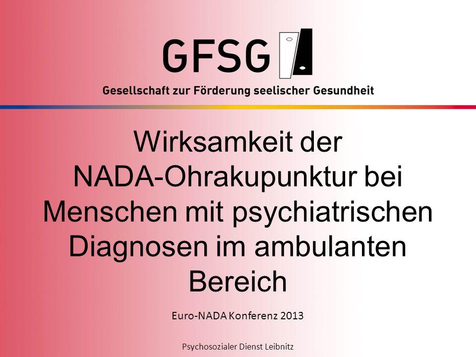 Wirksamkeit der NADA-Ohrakupunktur bei Menschen mit psychiatrischen Diagnosen im ambulanten Bereich