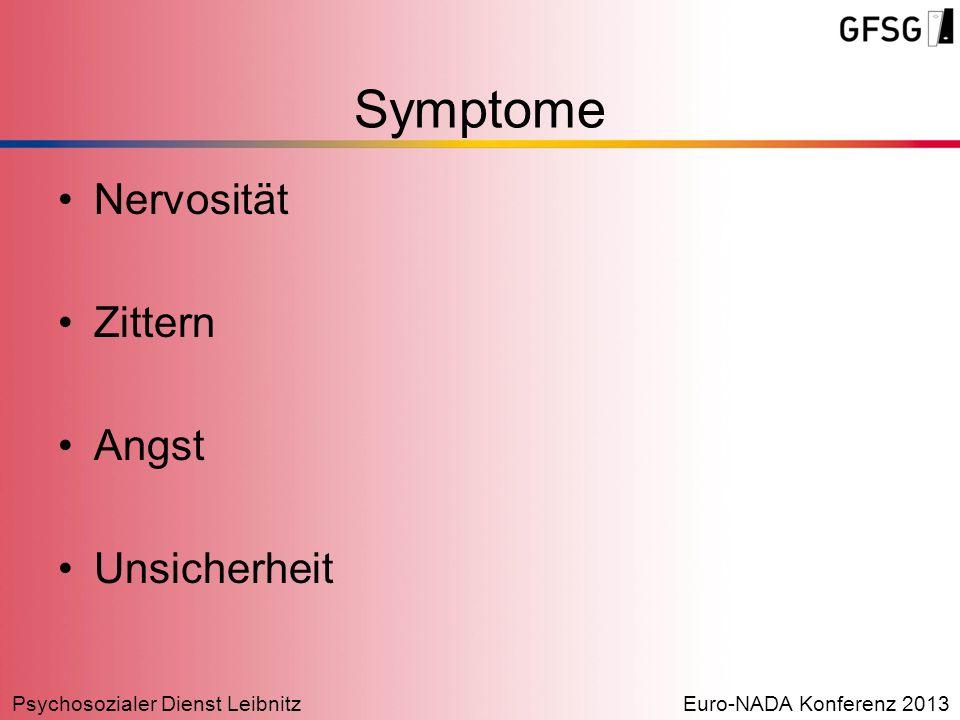 Symptome Nervosität Zittern Angst Unsicherheit