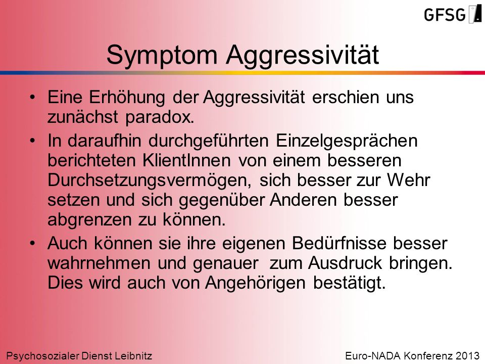 Symptom Aggressivität