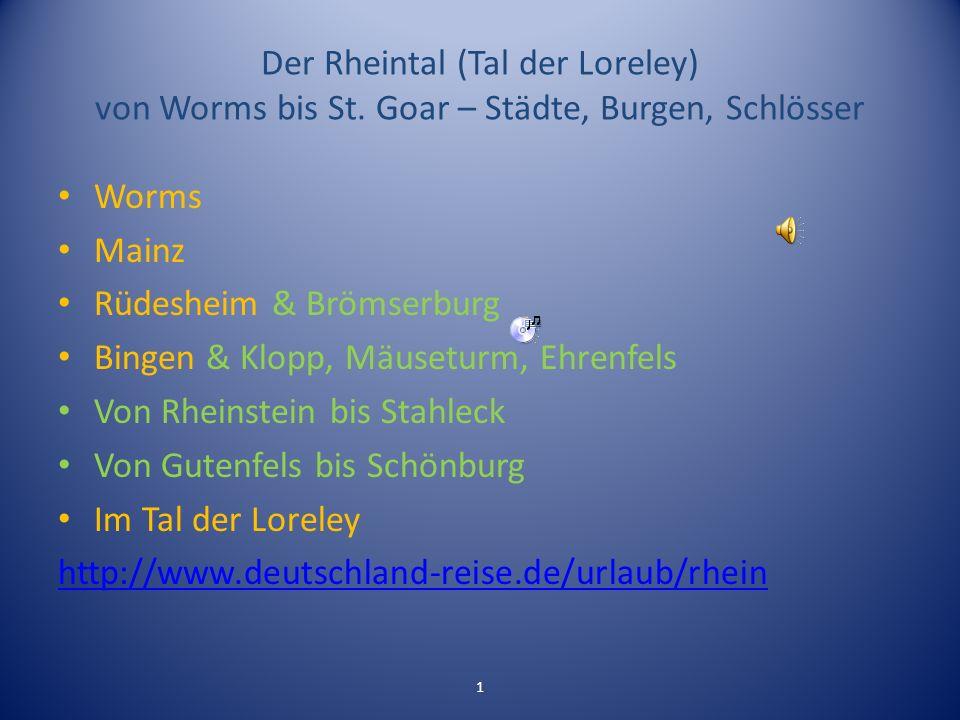 Rüdesheim & Brömserburg Bingen & Klopp, Mäuseturm, Ehrenfels