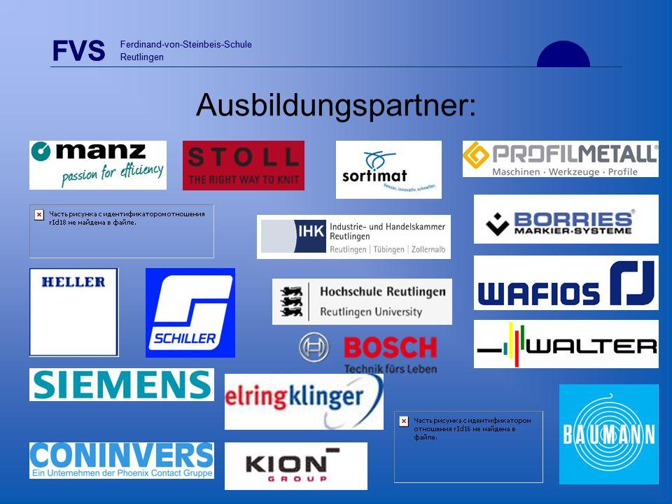 FVS Ferdinand-von-Steinbeis-Schule Reutlingen Ausbildungspartner: