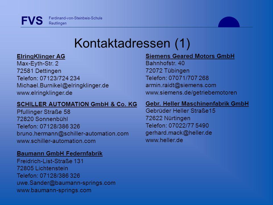 Kontaktadressen (1) ElringKlinger AG Max-Eyth-Str. 2 72581 Dettingen Telefon: 07123/724 234 Michael.Burnikel@elringklinger.de www.elringklinger.de.