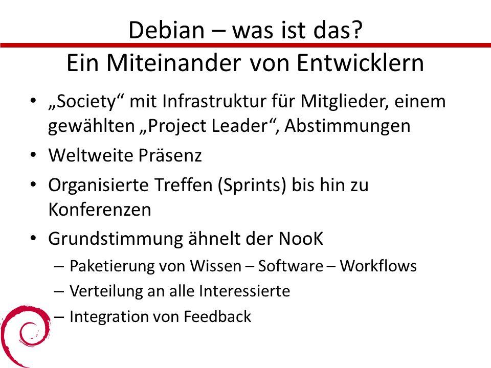 Debian – was ist das Ein Miteinander von Entwicklern