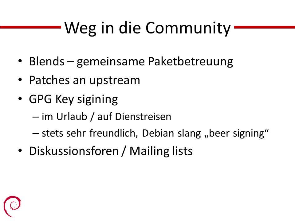Weg in die Community Blends – gemeinsame Paketbetreuung