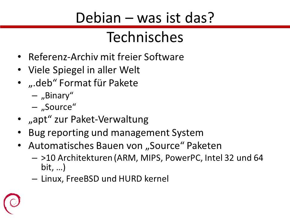 Debian – was ist das Technisches