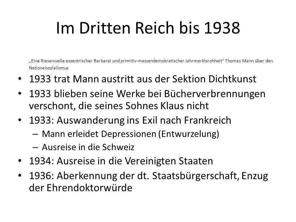 Im Dritten Reich bis 1938