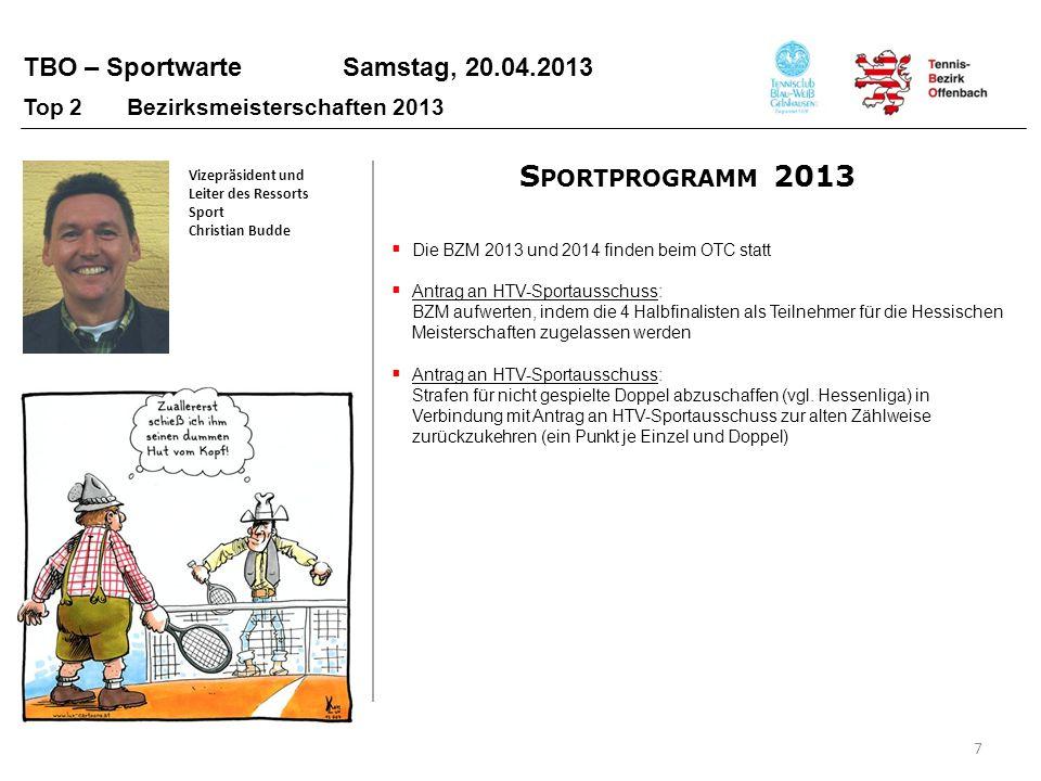 Sportprogramm 2013 Top 2 Bezirksmeisterschaften 2013