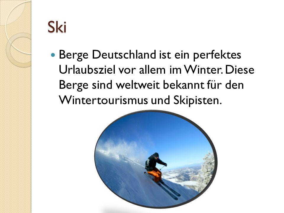Ski Berge Deutschland ist ein perfektes Urlaubsziel vor allem im Winter.