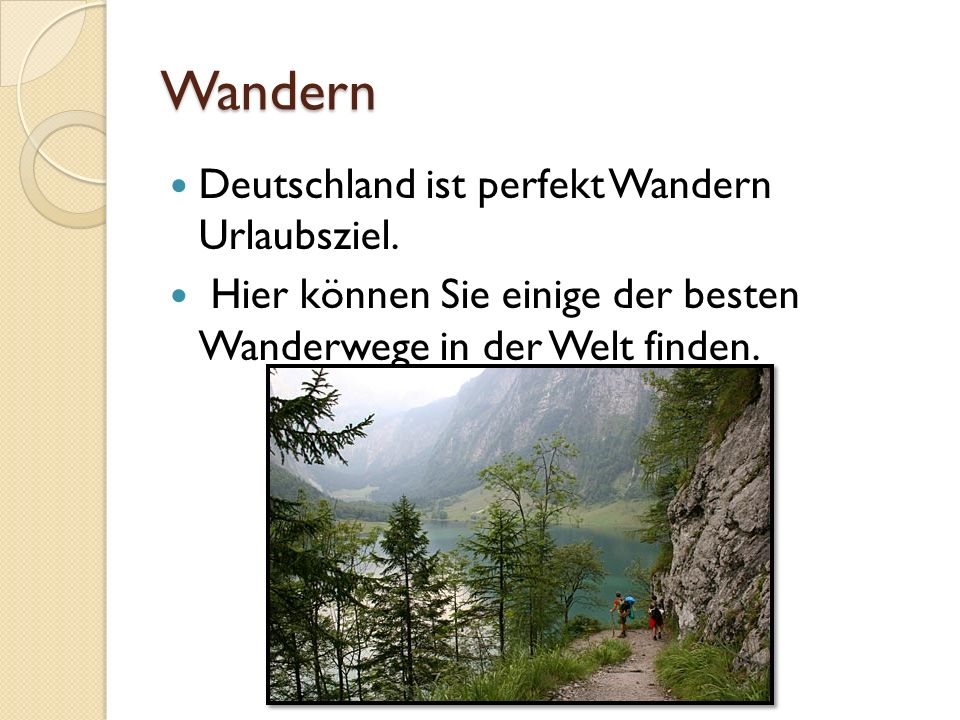 Wandern Deutschland ist perfekt Wandern Urlaubsziel.