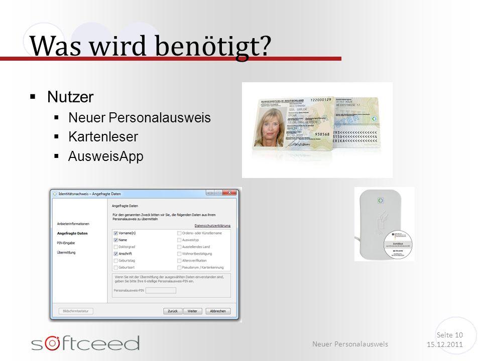 Was wird benötigt Nutzer Neuer Personalausweis Kartenleser AusweisApp