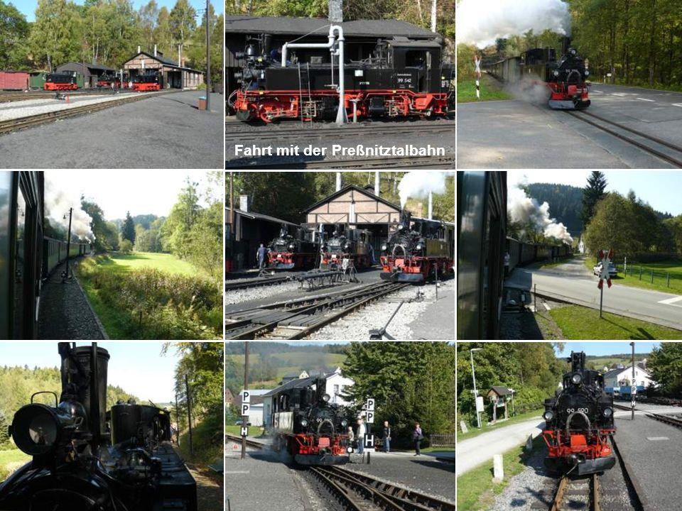 Fahrt mit der Preßnitztalbahn
