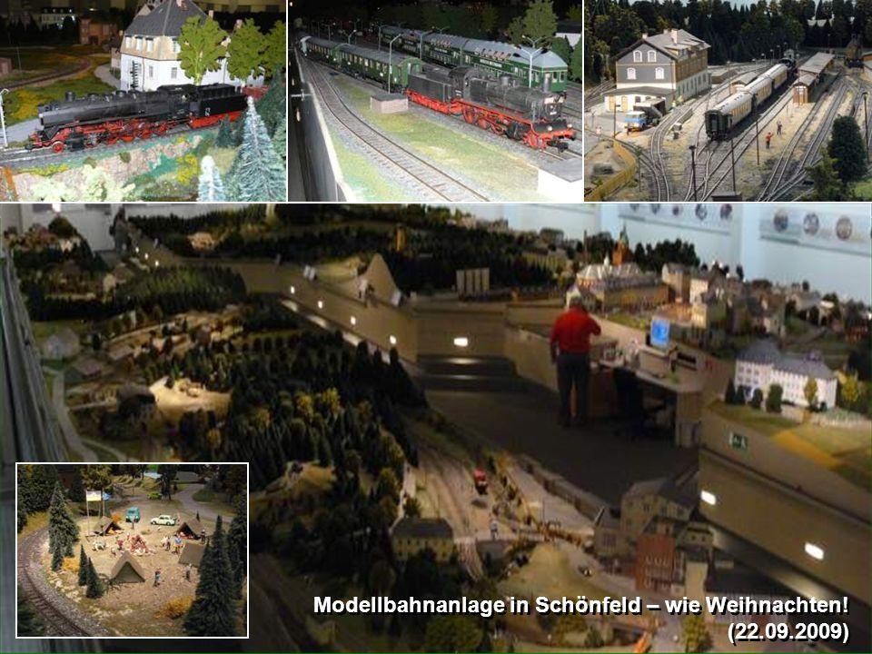 Modellbahnanlage in Schönfeld – wie Weihnachten!
